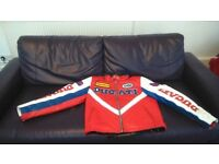 Leather Motorcycle Jacket - Ducati - Size Small