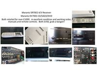 Marantz amplifier and dvd player