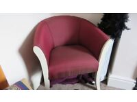 Lovely Red Tub Chair. Great condition