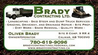Landscaping, Dump Truck, and Skid Steer Services