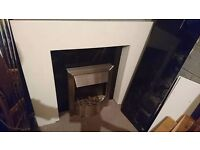 electric fire marble hearth fire surround with lights
