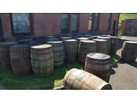 Solid oak recycled whisky barrels