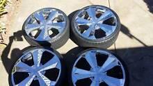 "20"" Vault Chrome Wheels & Tyres - Tyres near new! Pooraka Salisbury Area Preview"