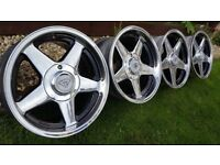 16's Rims AZEV A 4x100 Staggered J7.5 and J9 offset ET20 and ET15 BWM E30/E21 VW GOLF,VAUXHALL