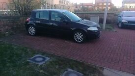 Black 08 Plate Renault Megane for sale - good condition