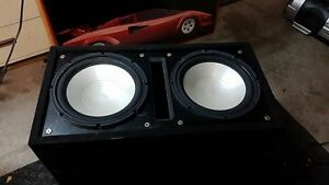 12inch infinity reference subs in ported box