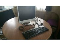 PC screen and keyboard