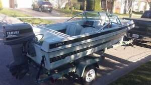 16' 1989 bowrider and trailer