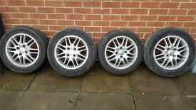 SET OF 4 FORD FOCUS ALLOY WHEELS