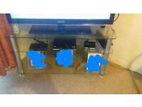 Large Glass TV Stand. Excellent condition.