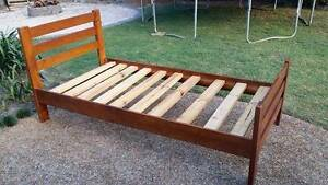 Single Wooden bed frame Victoria Point Redland Area Preview