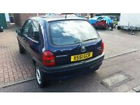 Vauxhall Corsa, 2000, reliable car for first time driver.