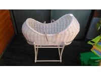 Classic Rocking Moses Basket with Stand - Pebble Grey