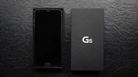 LG G6 black 32gb unlocked 1 year waranty