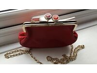 Red ted baker clutch bag