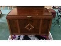 Vintage Bedding Box on Castors