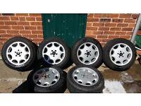 6 alloy wheels 8jx16 et34 5x112 from Mercedes sl