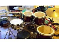 Cb drum kit with stagg hi hat and seat