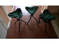 Tripod camping stools