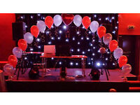 Balloons, Chair Covers, White Post Box, Wish Tree