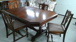 Antique, solid wood dining set