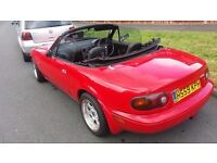 1990 Mazda MX5 1.6 Manual UK Spec with brand new rota wheels and tyres