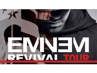 3 Seated Eminem Tickets Saturday 14th July £250 for all 3, UNDER FACE VALUE