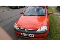 Vauxhall corsa 2003 1tr cheap on tax and insurance