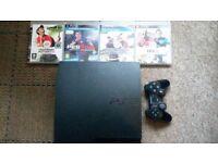 Sony Playstation 3 slim with 5 games! 500GB