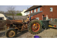 1957 fuguson tractor 4 cly diesel hi and low loader good tin project 1957 just nees painting