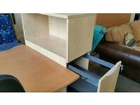 Beech storage and filing cabinet