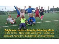 Saturday morning girls mini soccer football