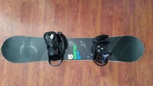 Burton Clash 151 Snowboard With Burton Freestyle Bindings