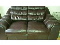 *BARGAIN* 2 seater real leather sofa