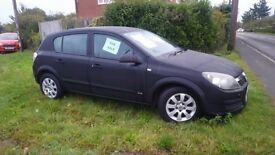 5 door Black Astra, MOT till next Sept. Lady Owner. Only selling as now have company car