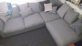 DFS Grey left hand corner settee