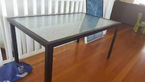 Outdoor glass table and six chairs Coorparoo Brisbane South East Preview