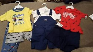 3 Brand new Oshkosh and Carter's outfits Boys (18-24months)