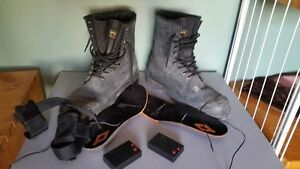 Size 13 work boots + heated inasoul inserts