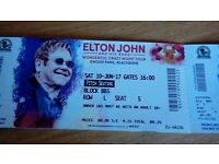 3 x Elton John tickets Live at Ewood Park, Blackburn