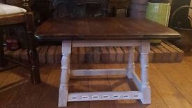 coffee table with twist and turn top