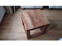 Solid wood table in dark sheesham wood (45cm square)