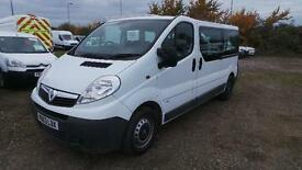 VAUXHALL VIVARO 9 seater COMBI, CDTI 115psi, 6 speed, tailgate, White, Manual, D