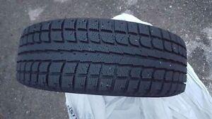 Set of 4 winter tires on steel rims
