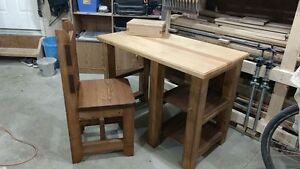 Handcrafted Desk and Chair