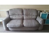 3 and 2 seater grey fabric sofa good condition ideal first home couches PRICE DROP MUST GO