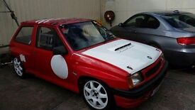 Vauxhall Nova Red Top/track car/ rally car/ hill climber/ rare