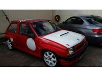 Vauxhall Nova Red Top/track car/ rally car/ hill climber/ rare