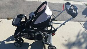 EUC sit and stand LX Baby trend stroller grey and black Kitchener / Waterloo Kitchener Area image 1