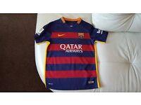 Kids Barcelona Football Kit Size MB 6-8